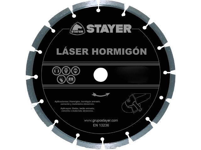 Diamentowa tarcza tnąca Láser Hormigón 180x22,2mm Stayer