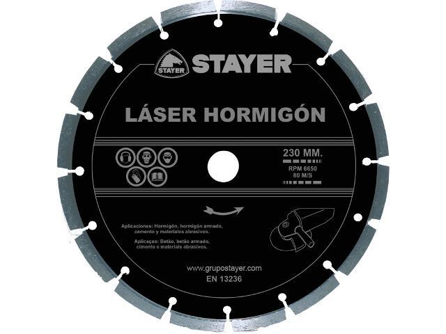 Diamentowa tarcza tnąca Láser Hormigón 230x22,2mm Stayer