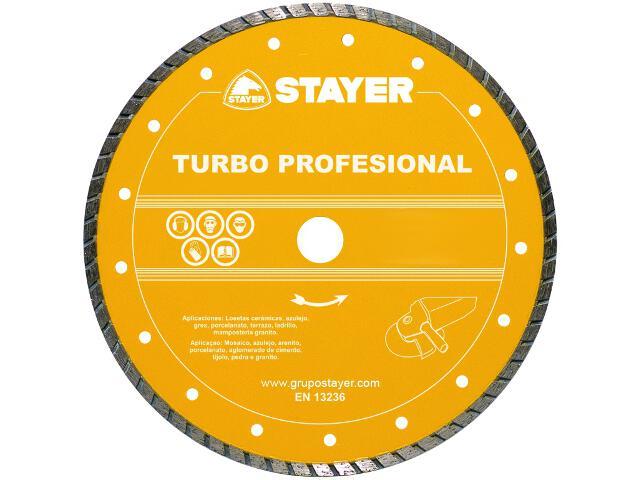 Diamentowa tarcza tnąca Turbo Profesional 250x25,4mm Stayer
