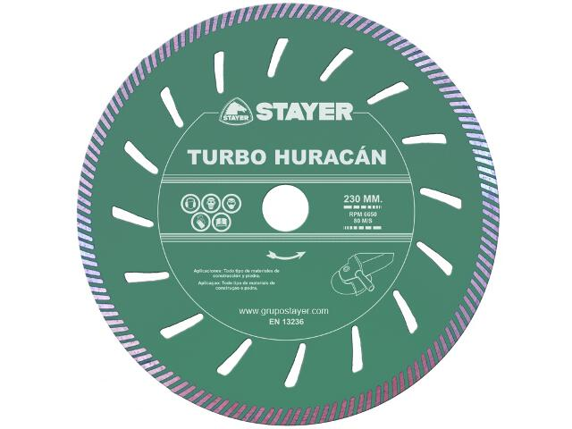 Diamentowa tarcza tnąca Turbo Huracán 230x22,2mm Stayer