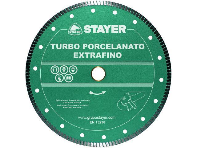 Diamentowa tarcza tnąca Turbo Extrafino Porcel. 125x22,2mm Stayer