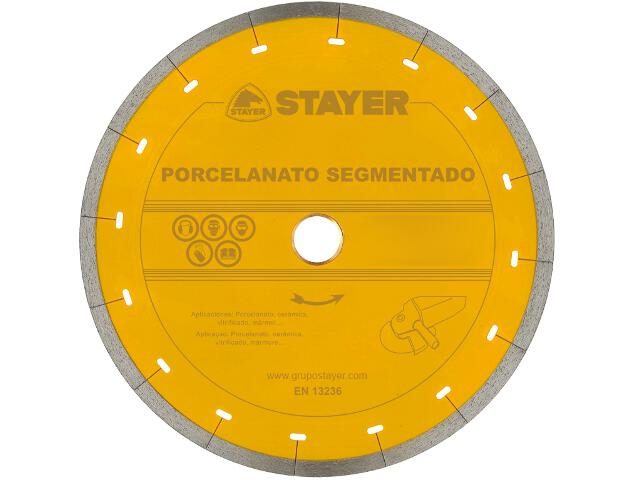 Diamentowa tarcza tnąca Porcelanato Segment. 250x25,4mm Stayer