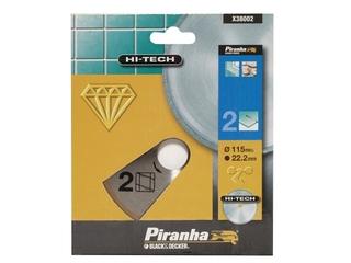 Diamentowa tarcza tnąca 115mm ciągła na sucho Piranha