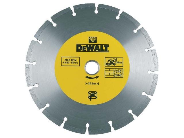 Diamentowa tarcza tnąca 115x22,2mm DT3701 DeWALT