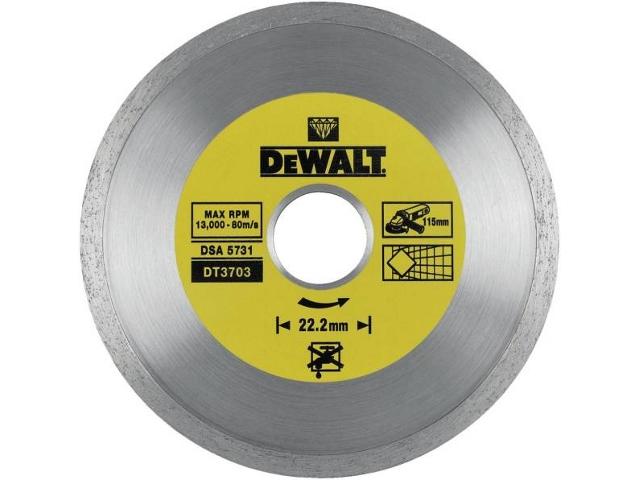 Diamentowa tarcza tnąca 115x22,2mm DeWALT