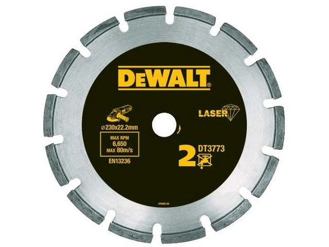 Diamentowa tarcza tnąca 230x22,2mm DT3773 DeWALT