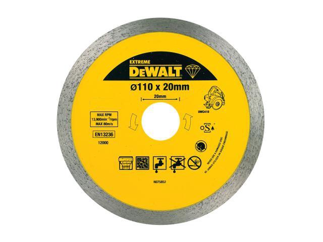 Diamentowa tarcza tnąca 110x20mm DT3714 DeWALT