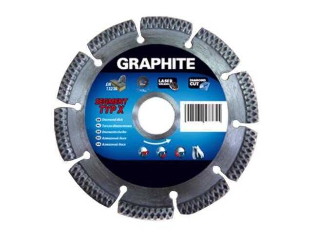 Diamentowa tarcza tnąca 230x22mm typ X Graphite