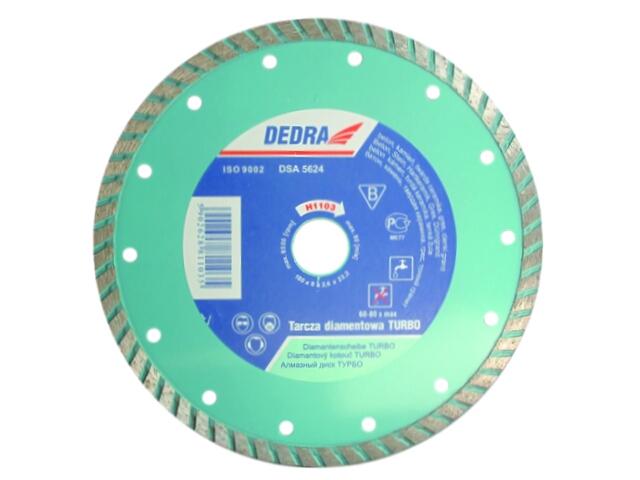 Diamentowa tarcza tnąca Turbo 180/22,2 H1103 Dedra