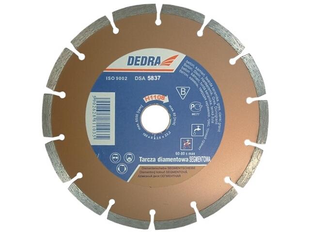 Diamentowa tarcza tnąca segmentowa 180/22,2 H1108 Dedra