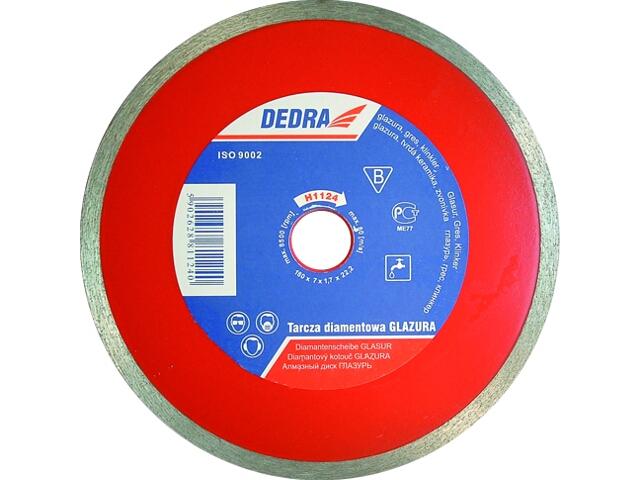 Diamentowa tarcza tnąca 180mm/22,2 H1124 Dedra