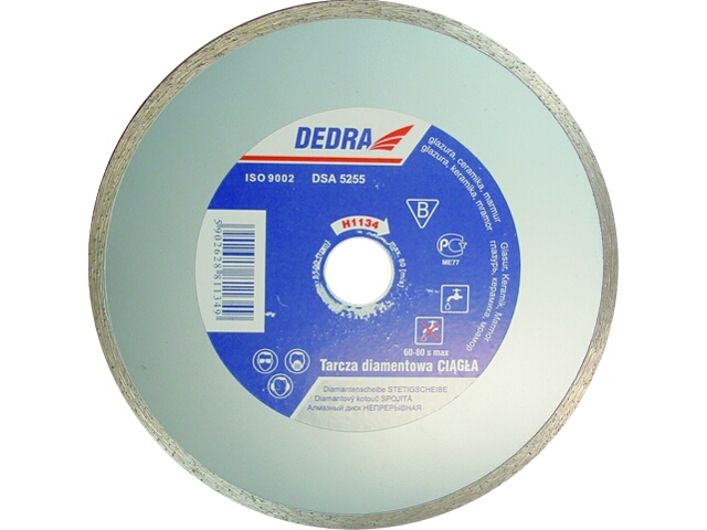 Diamentowa tarcza tnąca 180mm/22,2 H1134 Dedra
