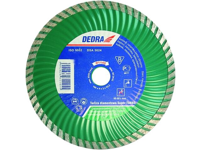 Diamentowa tarcza tnąca Super Turbo 150/22,2 H1144 Dedra