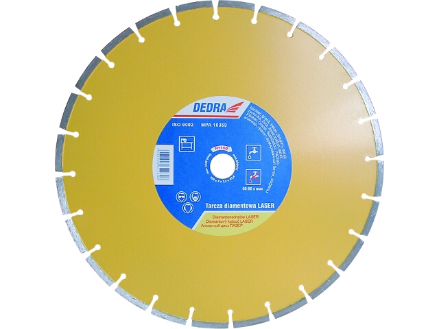 Diamentowa tarcza tnąca Laser 350/25,4 H1160 Dedra