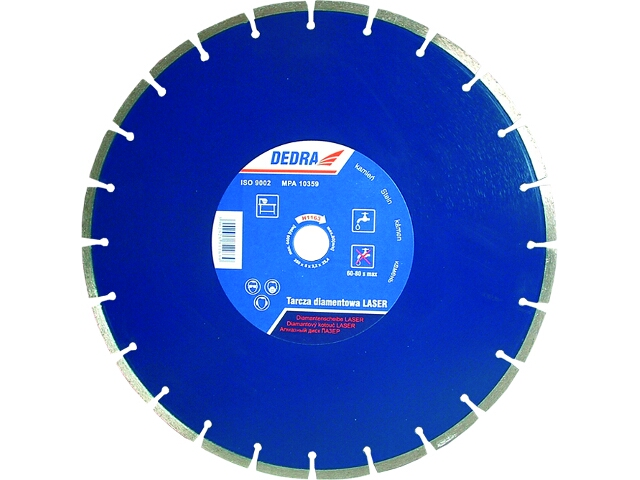 Diamentowa tarcza tnąca Laser GRANIT 350/25,4 H1163 Dedra