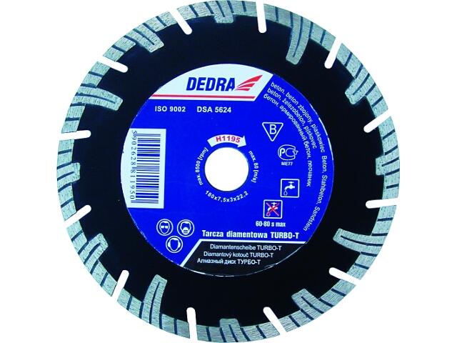 Diamentowa tarcza tnąca Turbo-T 230/25,4 H1197E Dedra