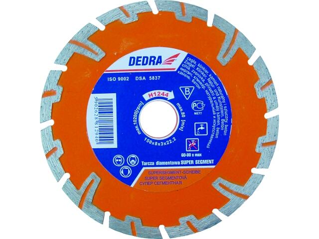 Diamentowa tarcza tnąca Super Segment 125/22,2 H1243 Dedra