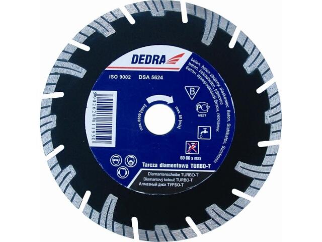 Diamentowa tarcza tnąca Turbo-T 250/25,4 H1198E Dedra