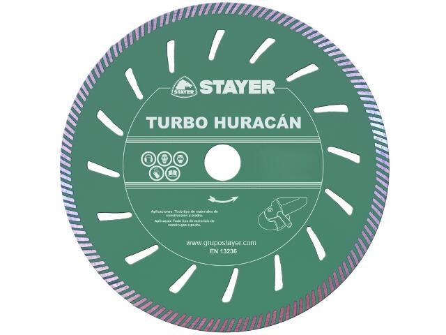 Diamentowa tarcza tnąca Turbo Huracán 115x22,2mm Stayer