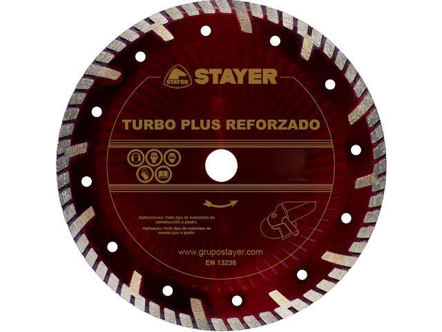 Diamentowa tarcza tnąca Turbo plus Reforzado 180x22,2mm Stayer
