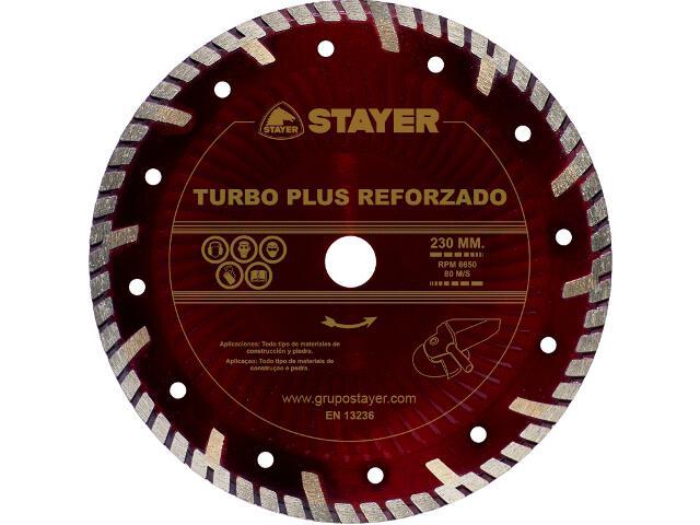 Diamentowa tarcza tnąca Turbo plus Reforzado 230x22,2mm Stayer