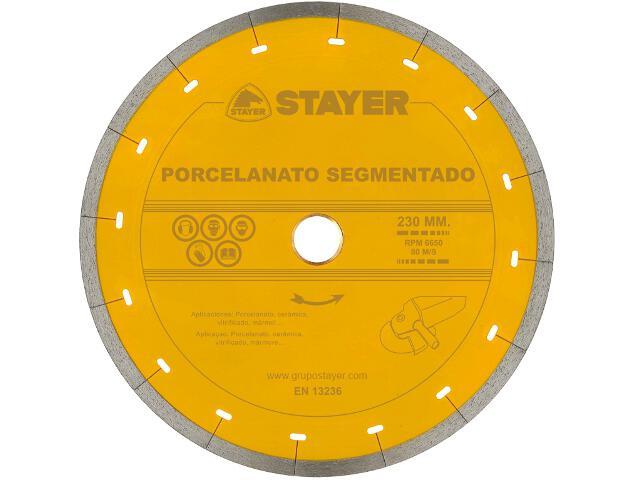 Diamentowa tarcza tnąca Porcelanato Segment. 230x22,2/25,4mm Stayer
