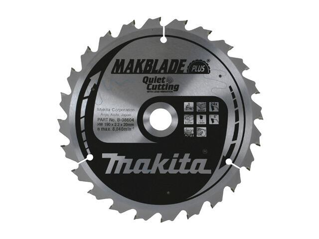 Piła tarczowa do drewna 190x20x2,2mm 24 zęby MAKBLADE PLUS B-08604 Makita