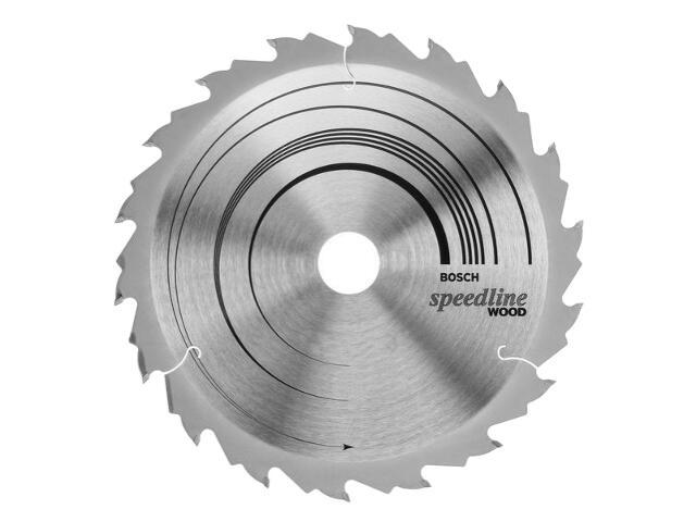 Piła tarczowa Speedline Wood FZ/WZ 165x30/20mm 18 zębów 2608640789 Bosch