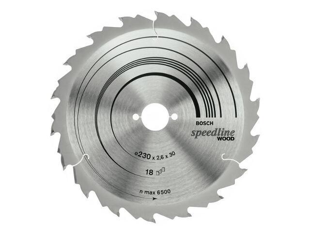 Piła tarczowa Speedline Wood FZ/WZ 230x30mm 18 zębów 2608640804 Bosch