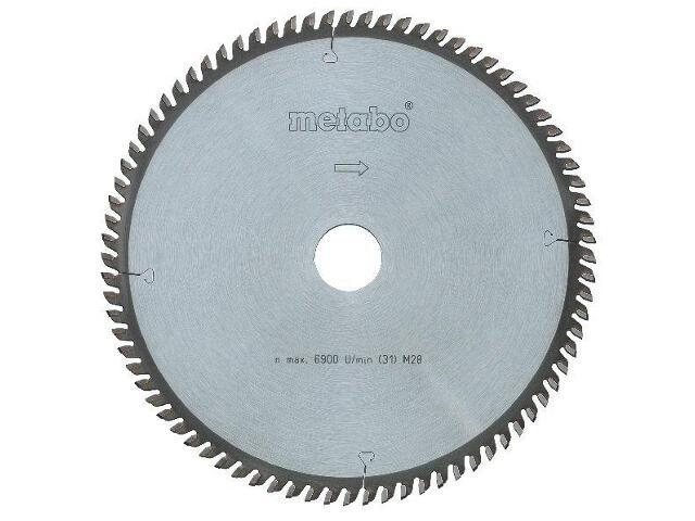 Piła tarczowa HW/CT 210x2,8/2x30 Z=60 ZP/ZT 5° ujemny multi cut Metabo