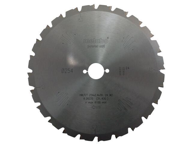 Piła tarczowa HW/CT 254x2,4/1,8x30 Z=20 WZ power cut Metabo