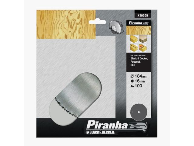 Piła tarczowa 184x16x100 stal chromowa CV Piranha
