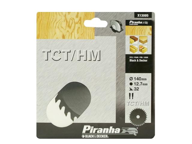 Piła tarczowa 140x12,7x32 z węglikiem TCT/HM Piranha