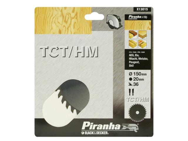 Piła tarczowa 150x20x36 z węglikiem TCT/HM Piranha
