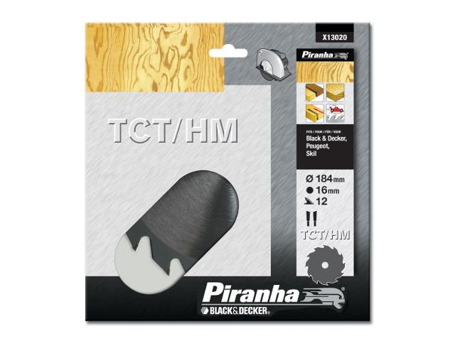 Piła tarczowa 184x16x12 z węglikiem TCT/HM Piranha
