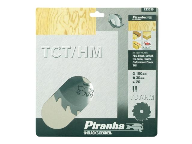 Piła tarczowa 190x30x20 z węglikiem TCT/HM Piranha