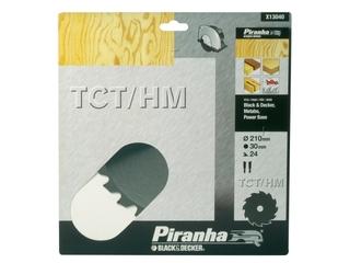 Piła tarczowa 210x30x24 z węglikiem TCT/HM Piranha