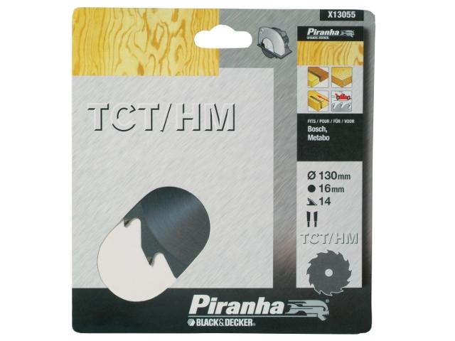 Piła tarczowa 130x16x14 z węglikiem TCT/HM Piranha