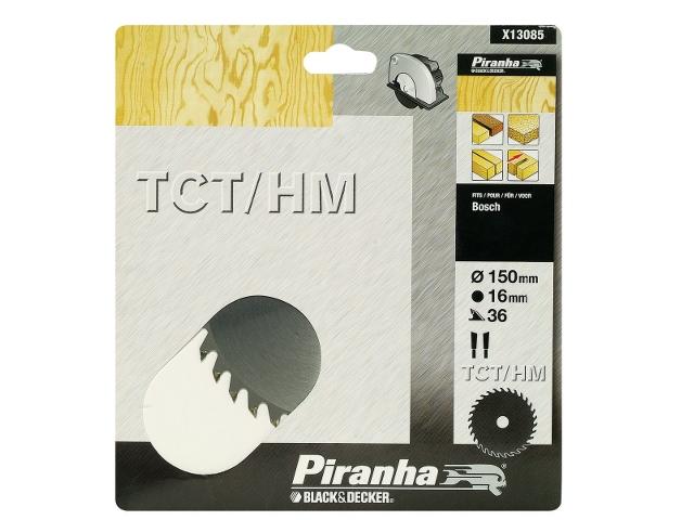Piła tarczowa 150x16x36 z węglikiem TCT/HM Piranha