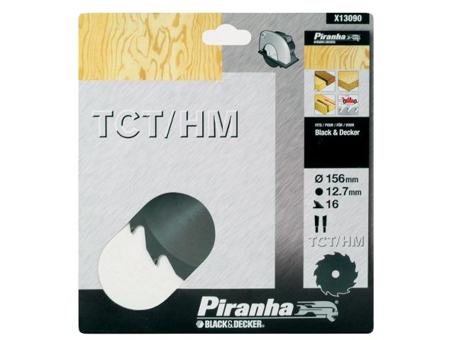 Piła tarczowa 156x12,7x16 z węglikiem TCT/HM Piranha