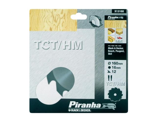 Piła tarczowa 160x16x12 z węglikiem TCT/HM Piranha