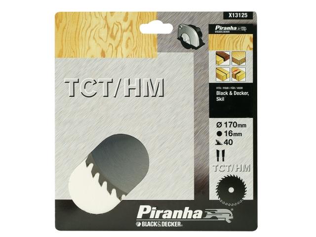 Piła tarczowa 170x16x40 z węglikiem TCT/HM Piranha