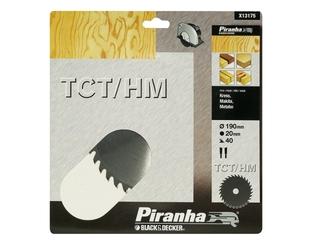 Piła tarczowa 190x20x40 z węglikiem TCT/HM Piranha