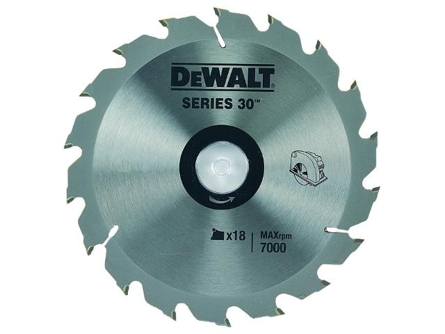 Piła tarczowa 170x30mm 18 zębów DeWALT