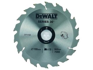 Piła tarczowa 190x30mm 18 zębów DeWALT