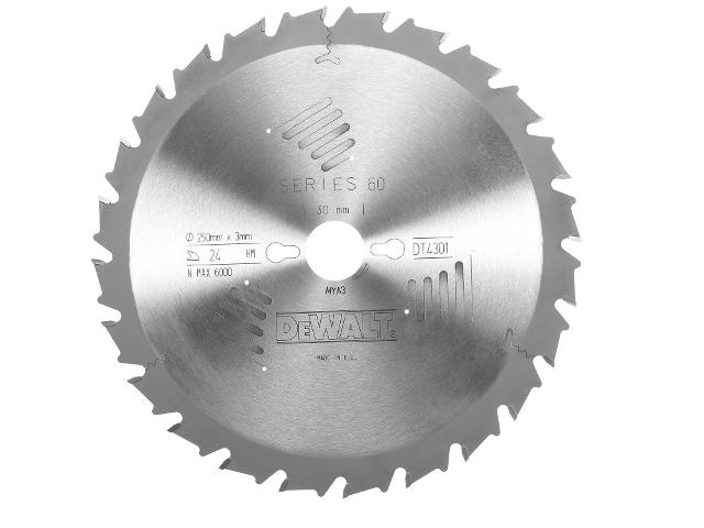 Piła tarczowa 250x30mm 24 zęby DT4301 DeWALT