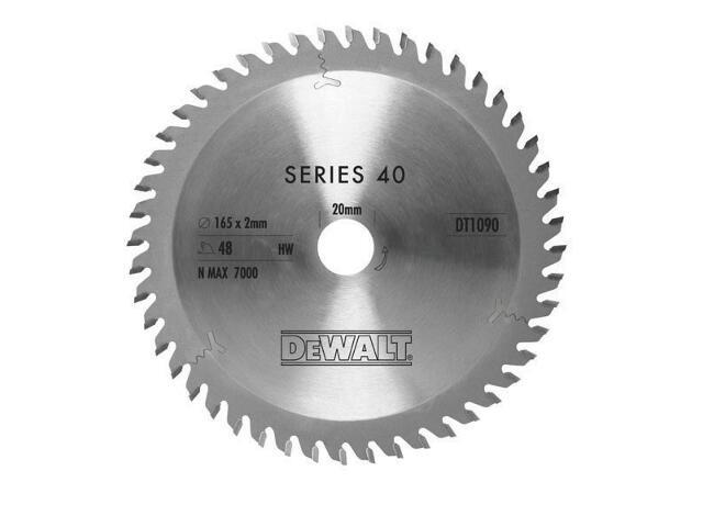 Piła tarczowa 165x20mm 48 zębów ATB DT1090 DeWALT