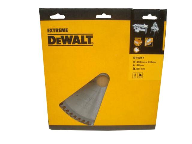Piła tarczowa 250x30mm 60 zębów HDF DT4217 DeWALT