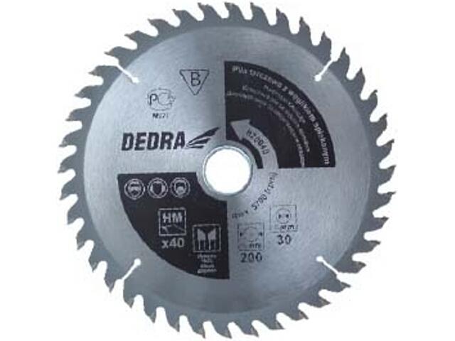 Piła tarczowa 200x60x16 H20060E Dedra