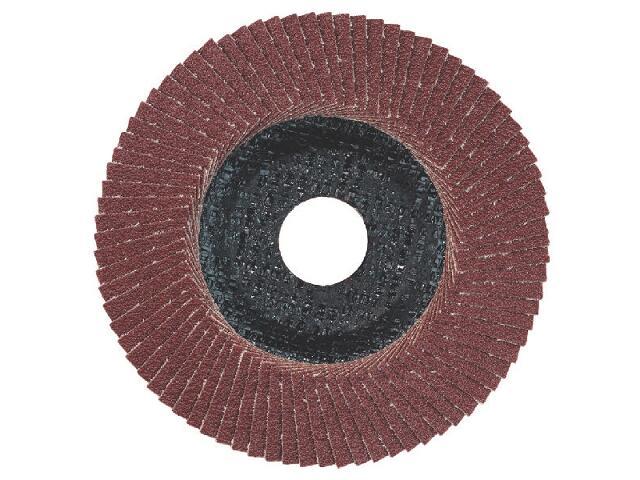 Wachlarzowa tarcza szlifierska lamelowa 125x22,2mm P120 624398000 Metabo